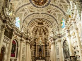 the inside of San Giovanni Evangelista church in Scicli